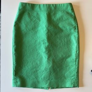 J. Crew Green No. 2 Pencil Skirt in Cotton